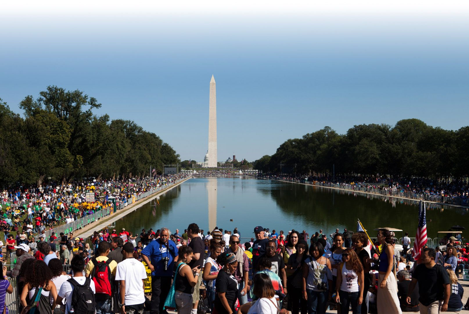 Crowds in Washington D.C. march for civil rights in America