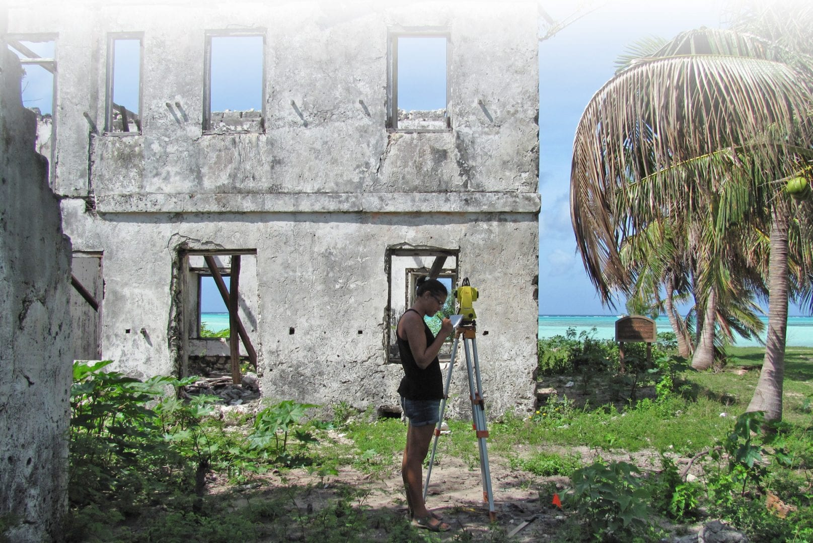 Studying Deveaux House on Cat Island, Bahamas