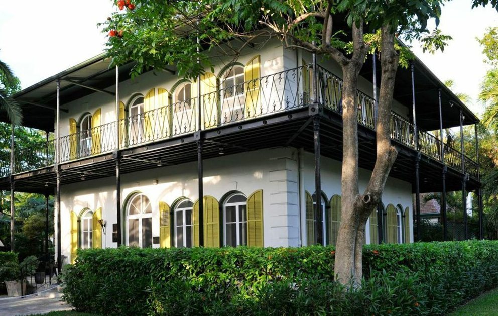 The outside of the Hemingway House in Key West