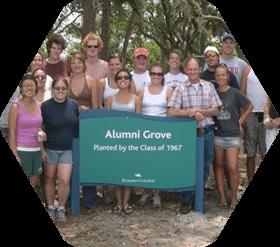 Students at Alumni Grove