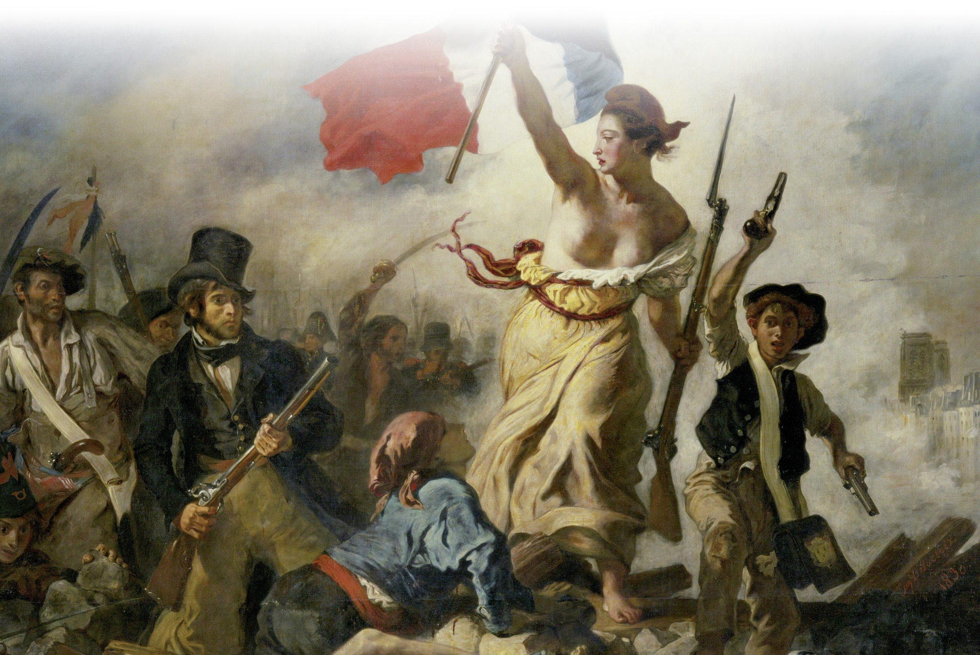Delacroix painting studied by our History majors