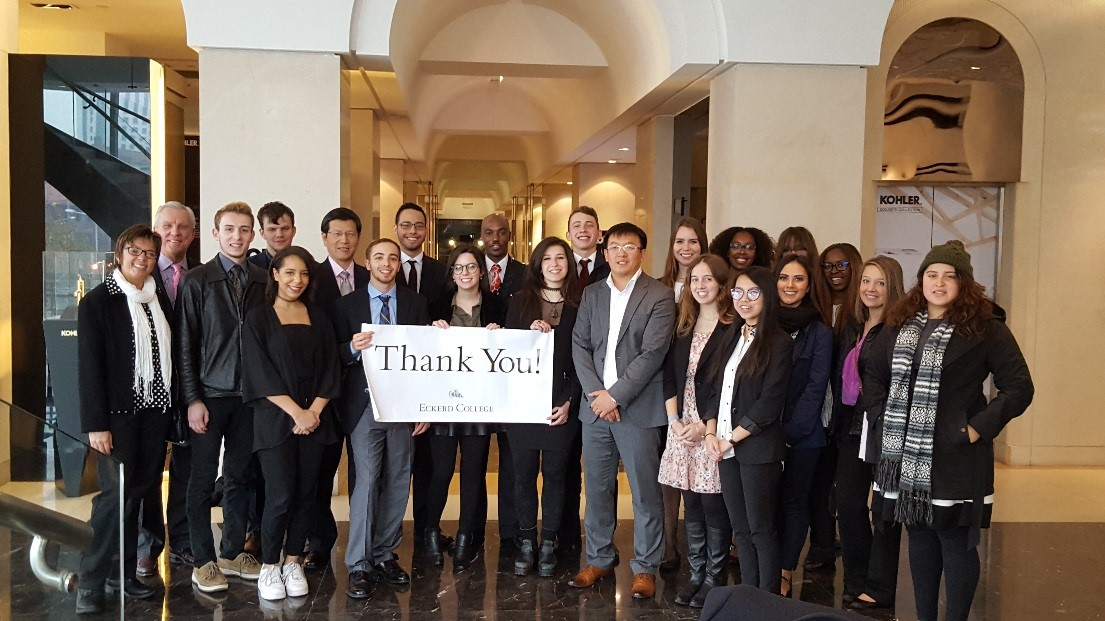 Students and faculty visiting Kholer company in Shanghai
