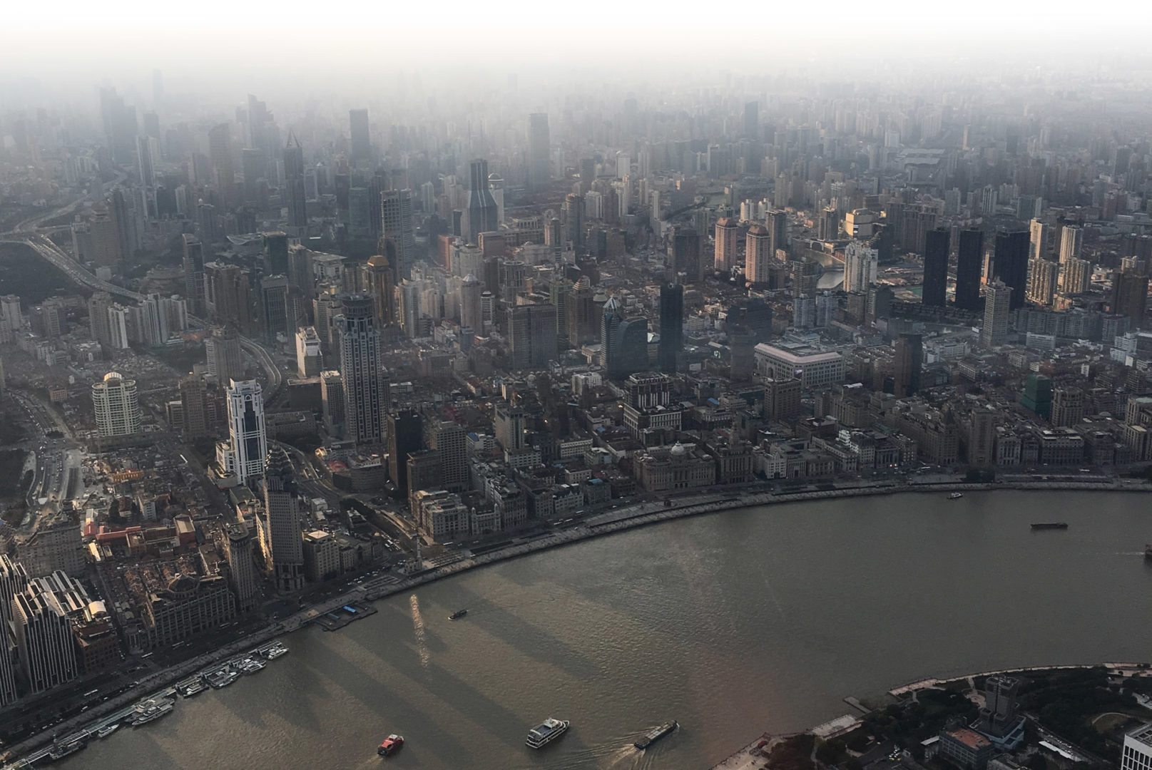 View from Shanghai Tower by Jennifer Chavez '17 during Winter Term trip to study international business and culture.