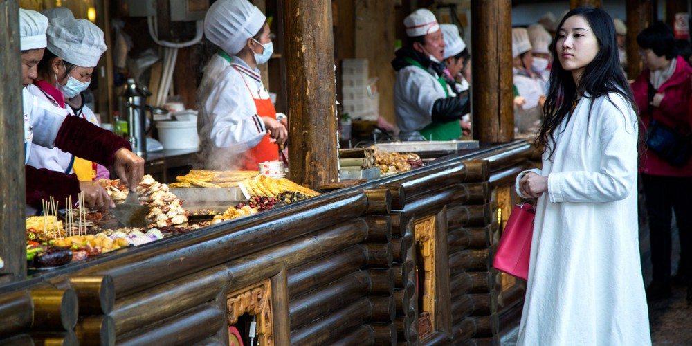 Woman in Lijiang street market