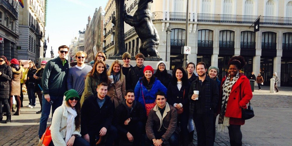 Students in Madrid