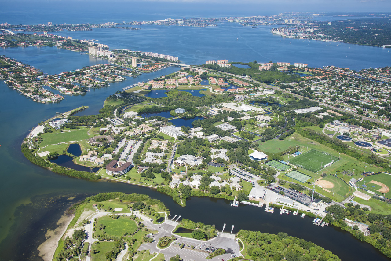Aerial view of Eckerd College