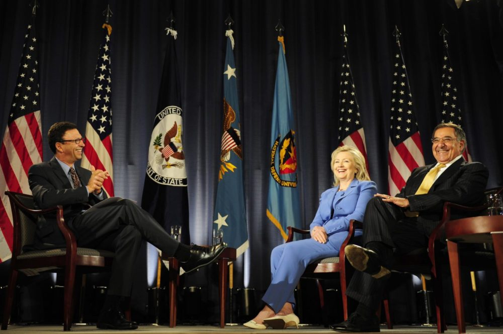 Frank Sesno interviews Hillary Clinton and Leon Panetta in Washington, D.C. in 2011