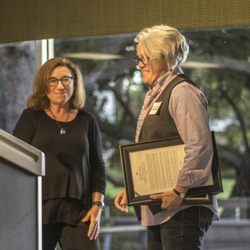 Dr. Vincent receives the award