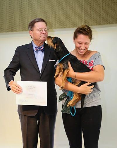 Dr. Eastman at Pet Commencement