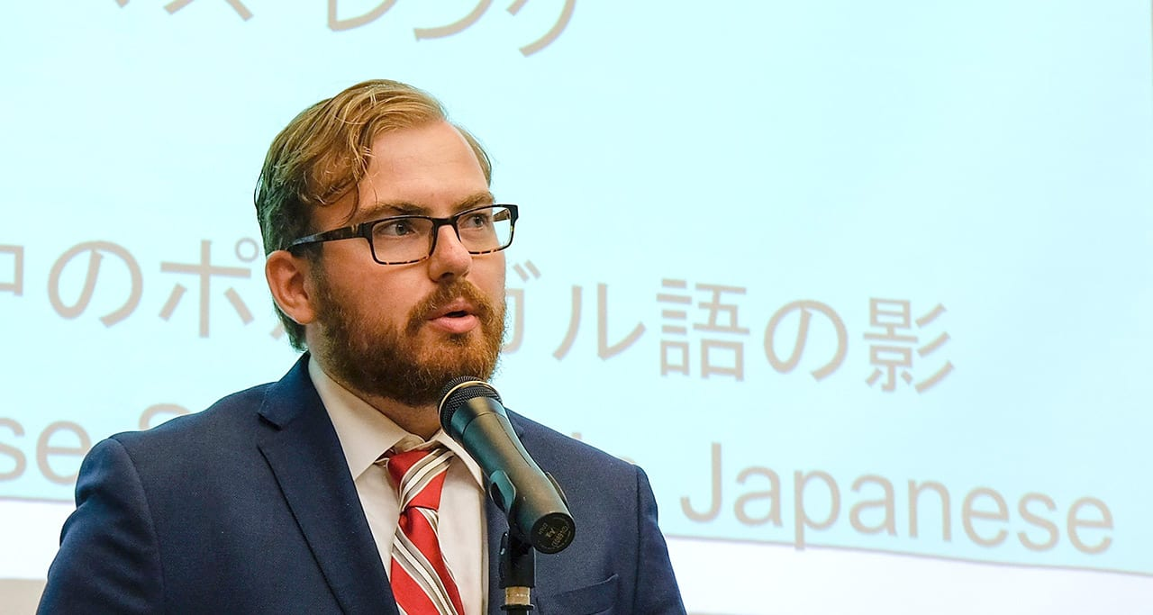 Thomas Lang '19 speaking Japanese