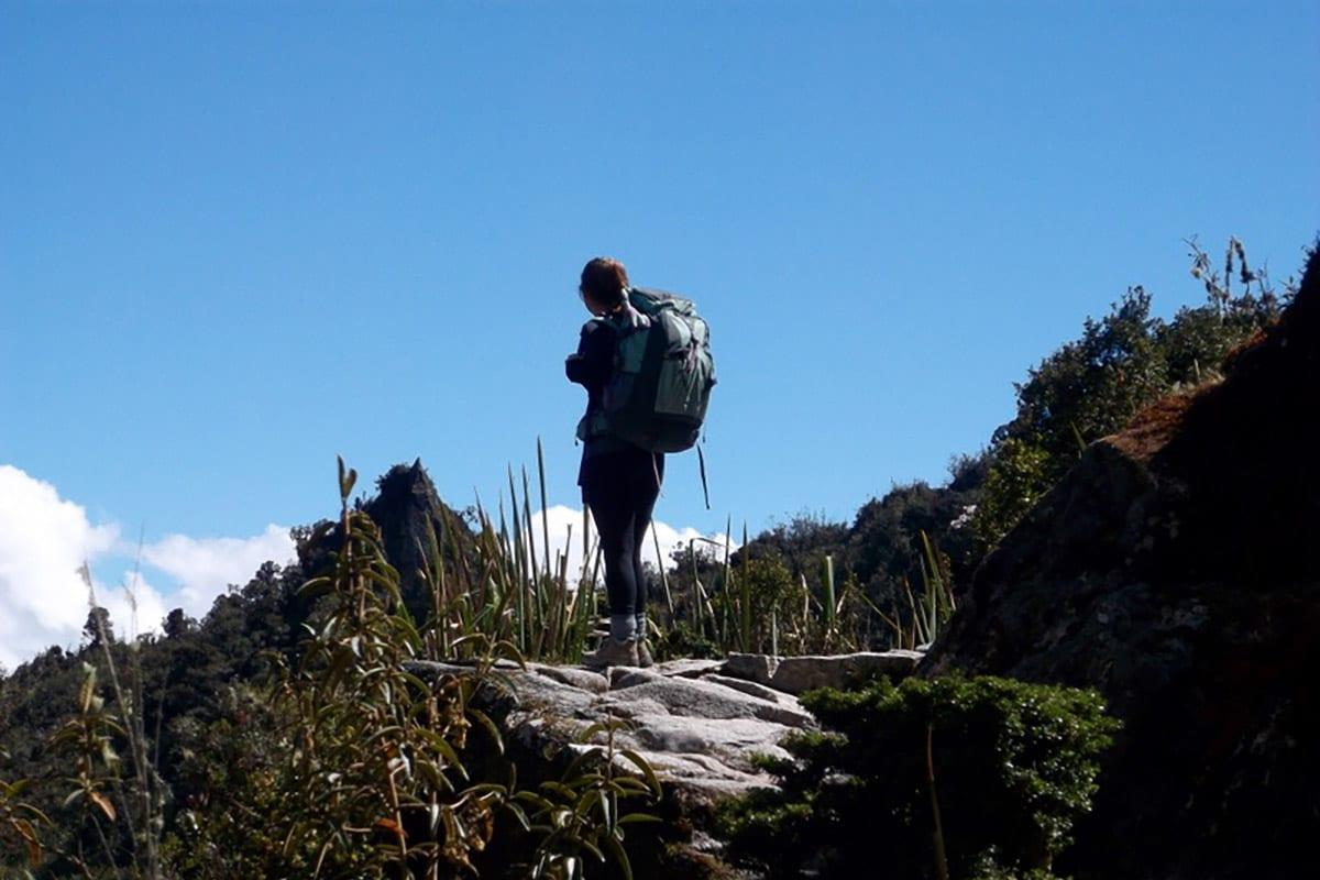 Meghan Cadden hiking