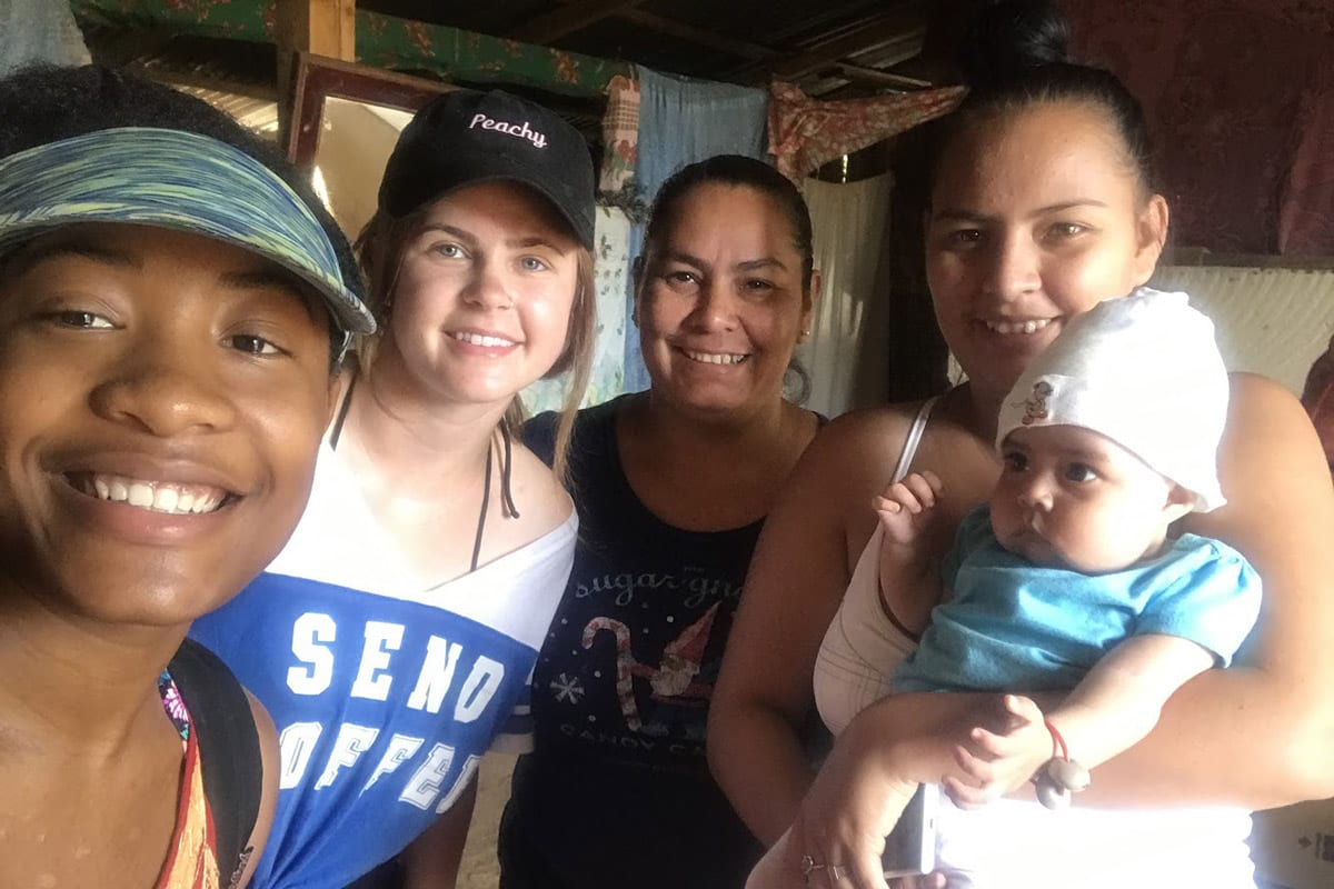 Isha Joseph with friend and family in Nicaragua