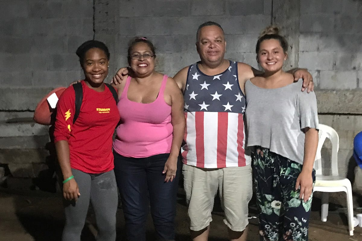 Isha Joseph with family in Guatemala