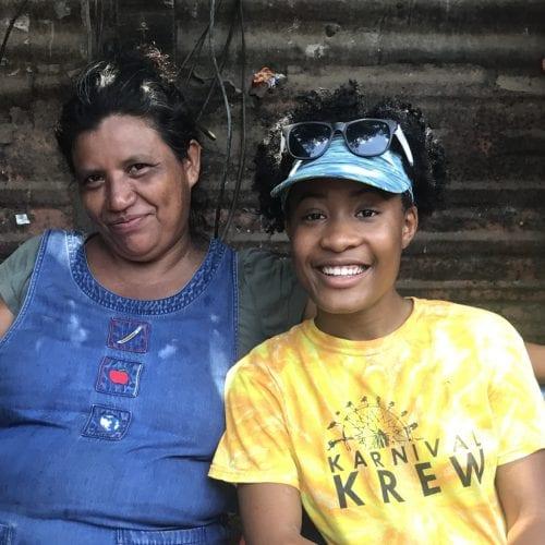 Isha Joseph with host family in Nicaragua