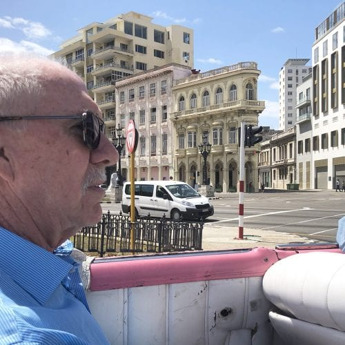 Dr. Brooks travels through Havana on a research trip