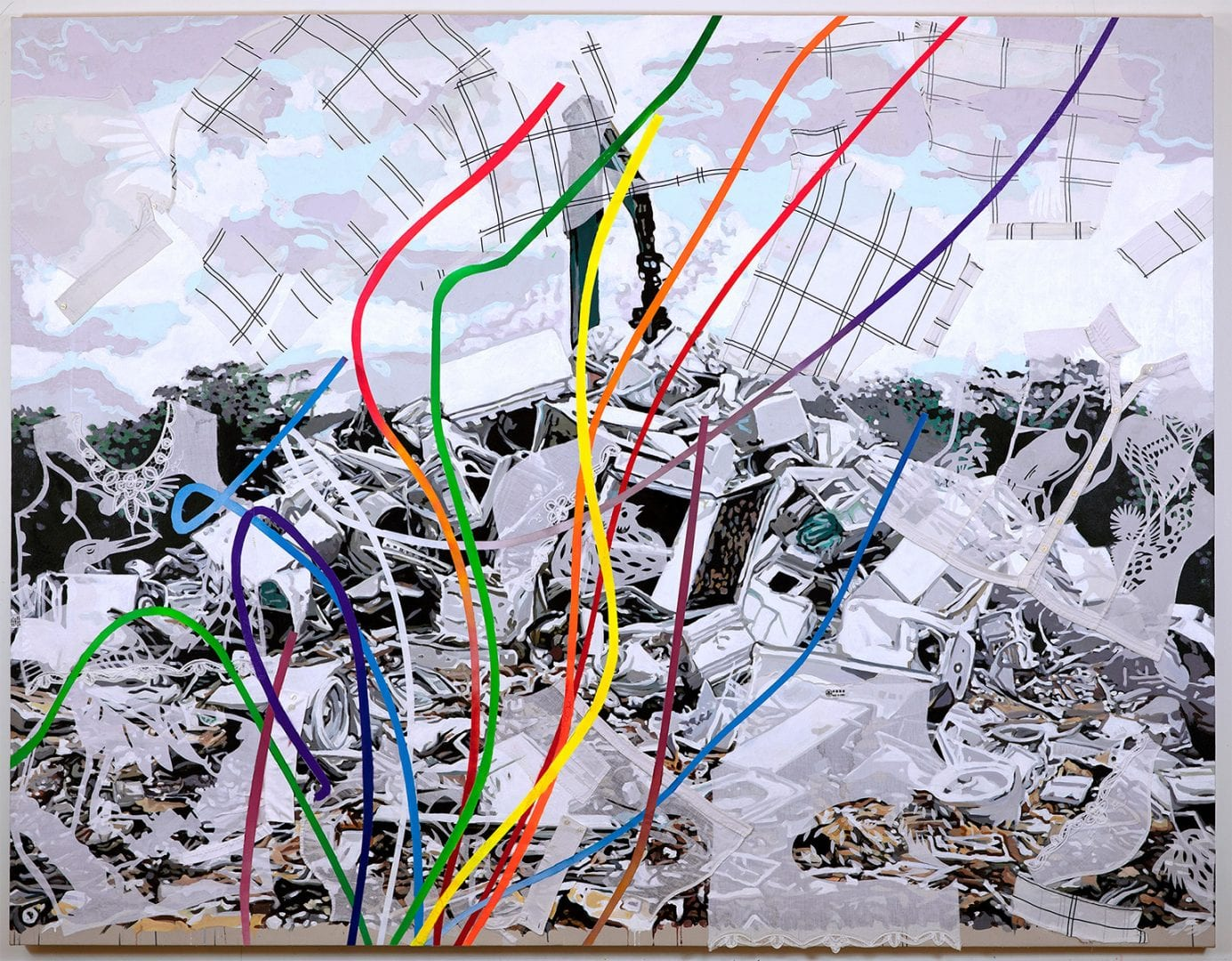Kirk Ke Wang, Landscape of Human Skins, Gray Walls. 2016-19