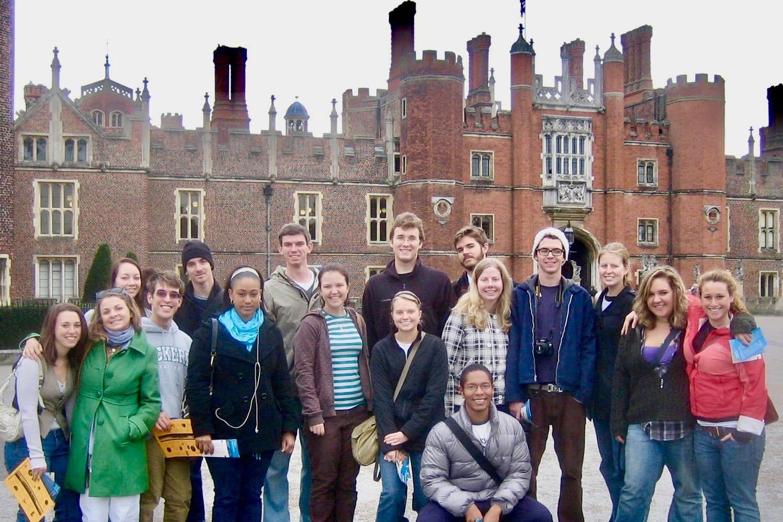 Eckerd College students spent the entire day exploring Hampton Court in 2009