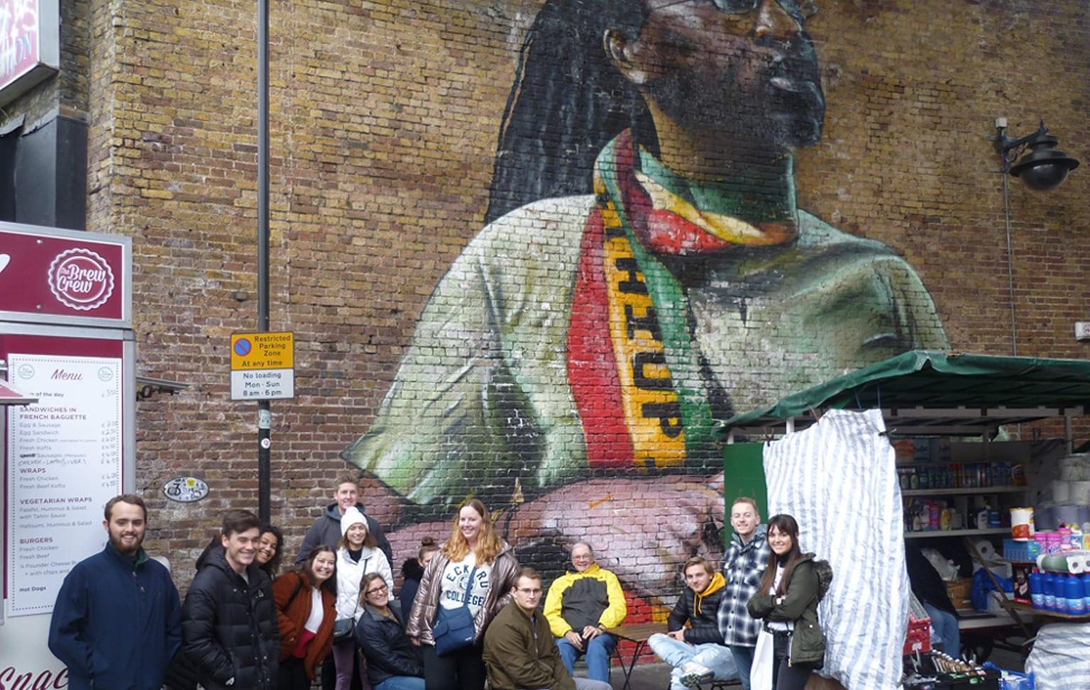 Professor Hamilton takes students to Brixton Market in London