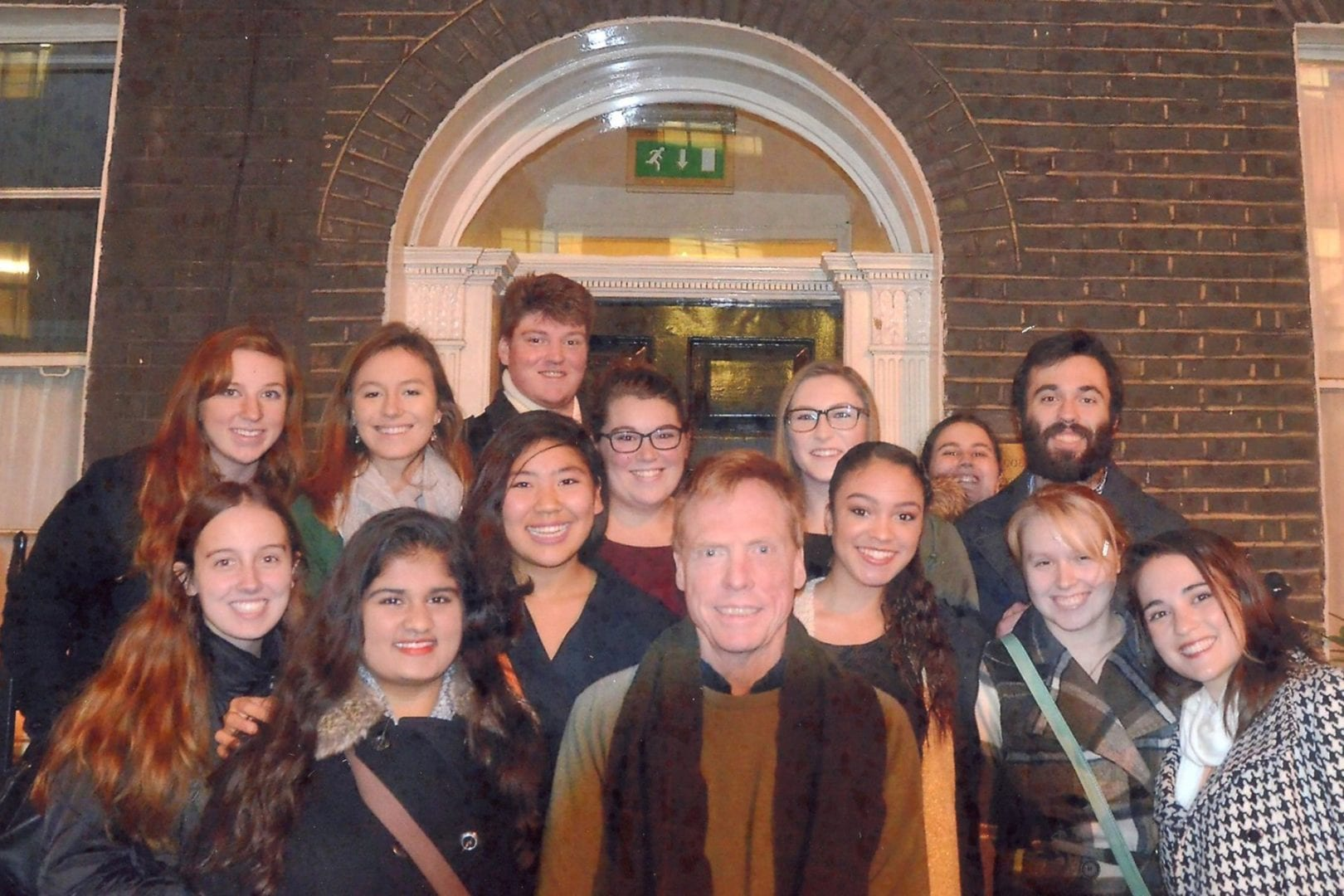 Professor Denison with Eckerd College students in London