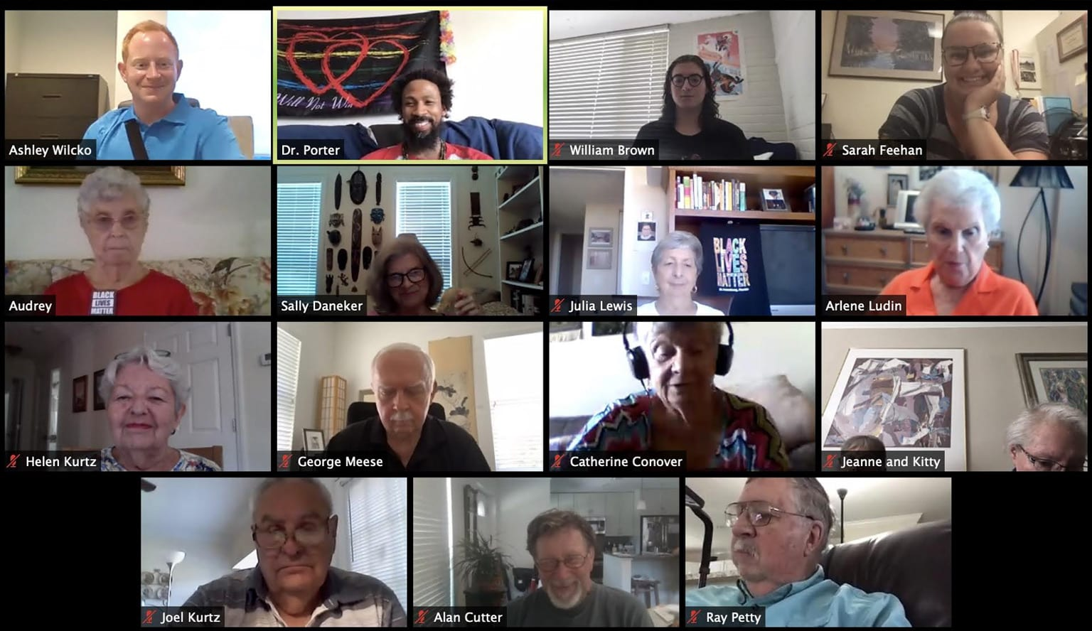 Eckerd Reflective Service-Learning program Zoom session with Westminster Shores residents