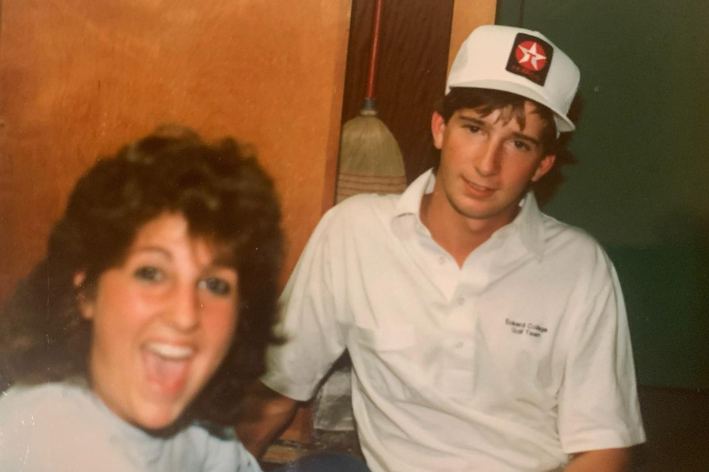 Matt and Sue McDermott in Gamma residence hall
