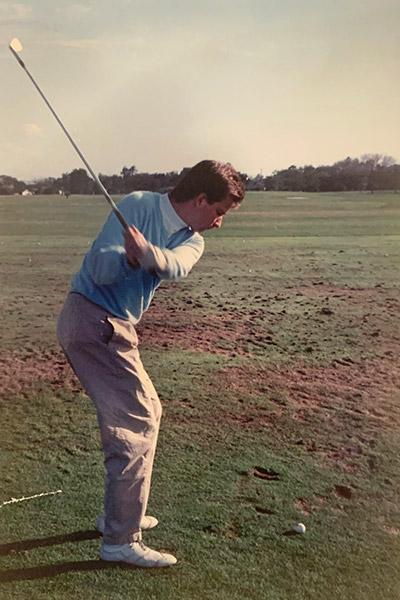 Matt McDermott playing golf in St. Petersburg