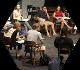 Students in Studio Theater