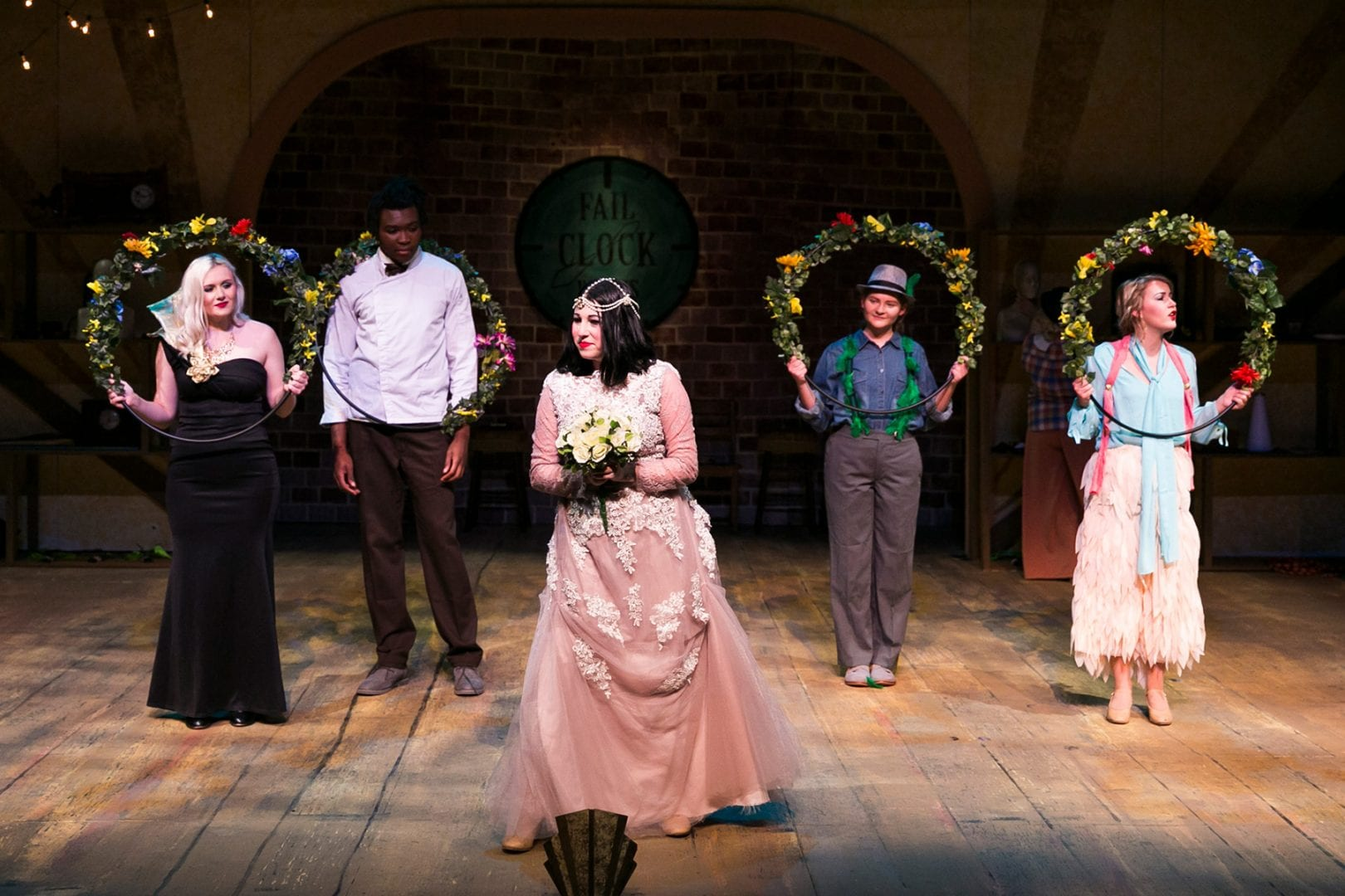 Actors on stage in Failure: A Love Story