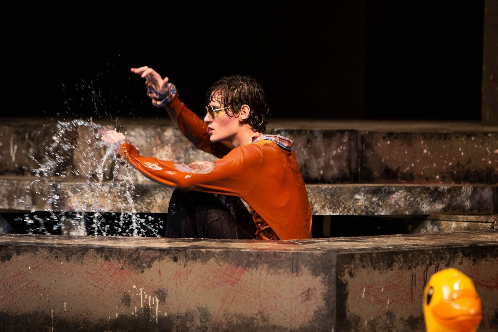 Male actor in water
