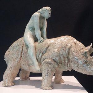 Woman on a Rhinoceros