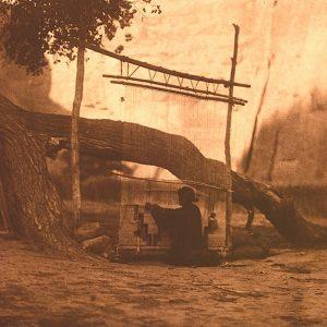 The Blanket Weaver. Navajo, 1906