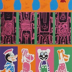 "Eduardo Paolozzi ""Secrets of the Internal Combustion Englne"" from ""Moonstrips Empire News""; screenprint, 1967"