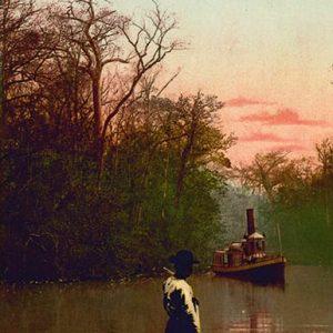 William Henry Jackson, Sunrise on the Ocklawaha River, photochrome, c. 1902