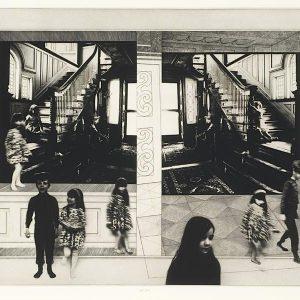 Peter Milton, Card House, intaglio, 1977