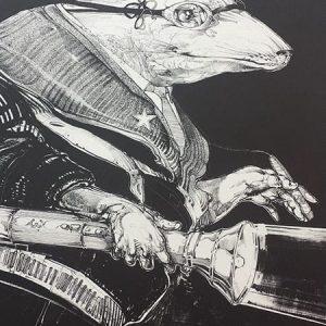 Robert Nelson, Light Load, lithograph, 1979 (detail)
