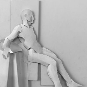Dean Fortune, Claudio, paper sculpture
