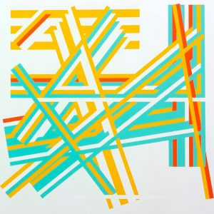 Kenneth Martin, Chance and Order IV, screenprint, 1972