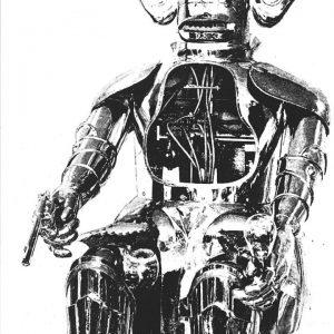 'No Heroes Developed', screenprint,1970