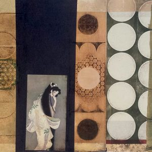 Suzanne Benton, Geisha, monoprint with chine collé