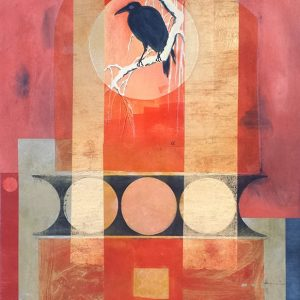 Suzanne Benton, Quoth the Raven, monoprint with chine collé