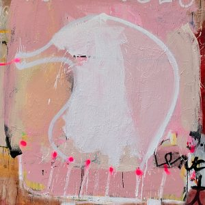 Jason Hackenwerth, Her Magical Powers; Oil, spray paint and pigment stick, on canvas