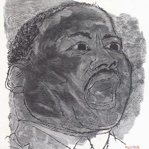 Ben Shahn: Martin Luther King, Jr; wood engraving (1966)