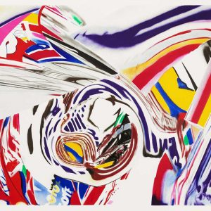 James Rosenquist: After Berlin V 10-color lithograph (1999) Published by Graphicstudio, University of South Florida, Tampa, FL Photo Credit: Will Lytch