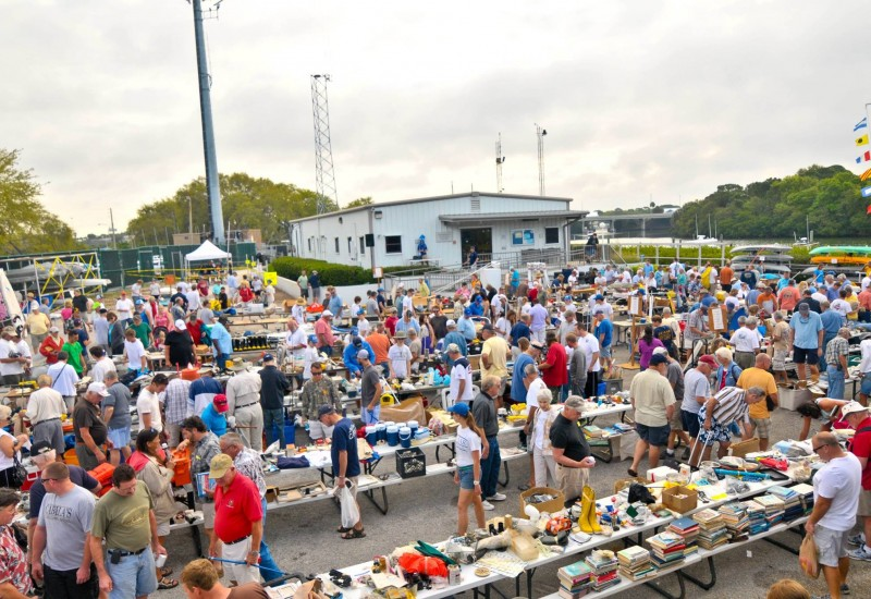 Crowds at annual Marine Yard Sale