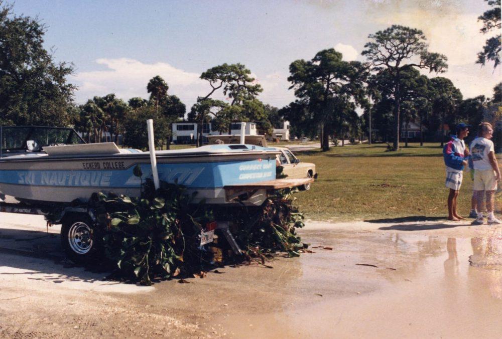 Boat on boat trailer