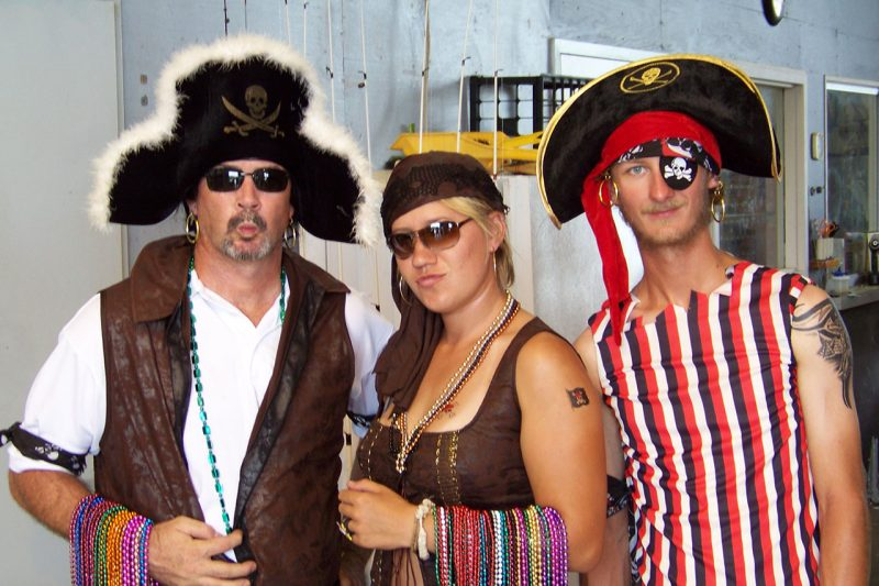 Staff and students in pirate garb