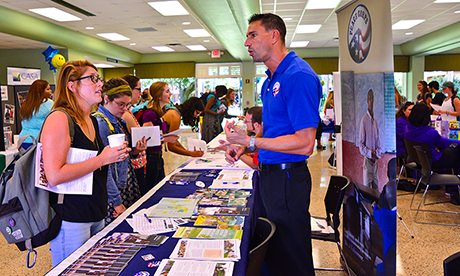 Peace Corps recruiter at our service fair