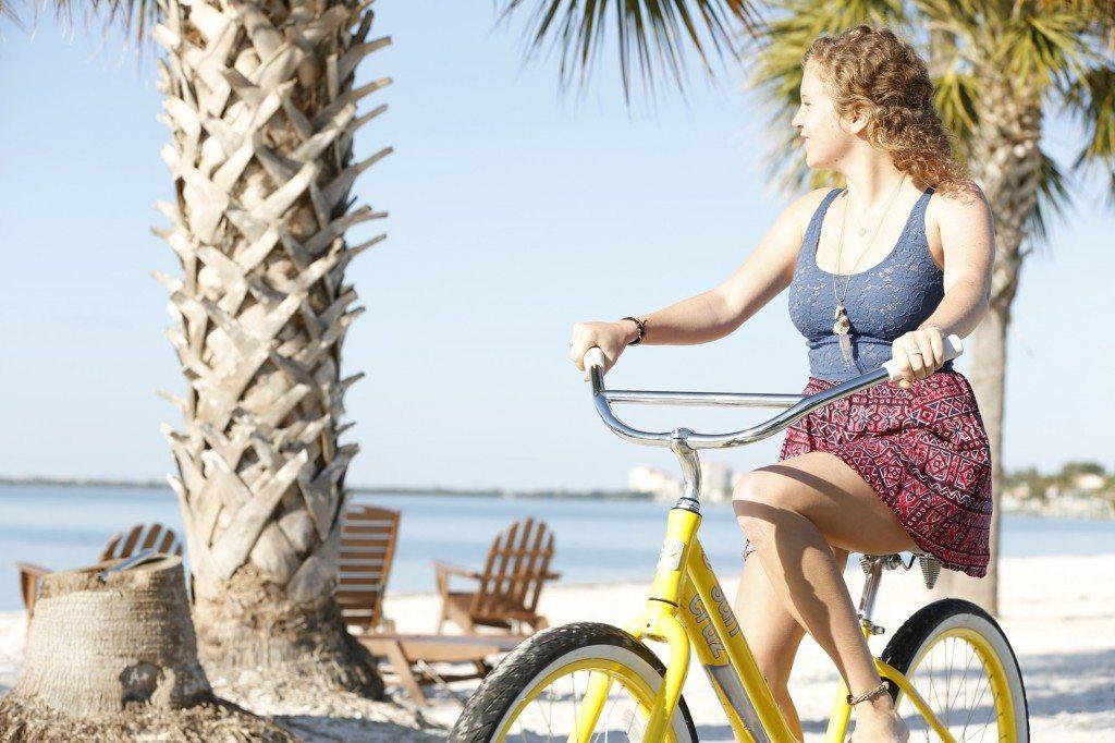 Biking along South Beach