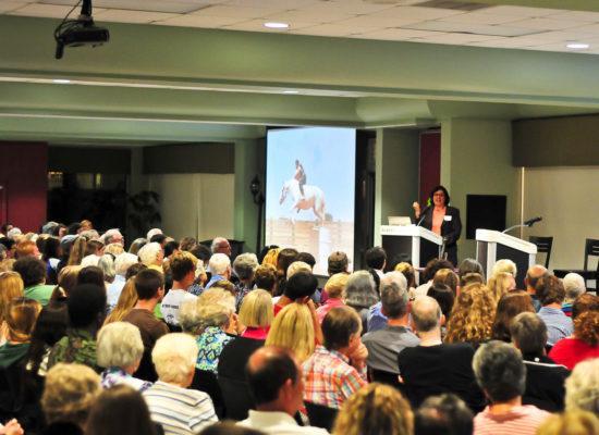 Pulitzer-winning journalist Sonia Nazario speaking in Fox Hall