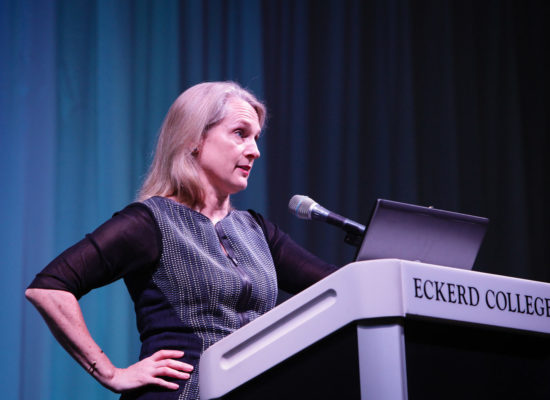 Piper Kerman, author of the best-selling memoir Orange is the New Black speaks at Eckerd